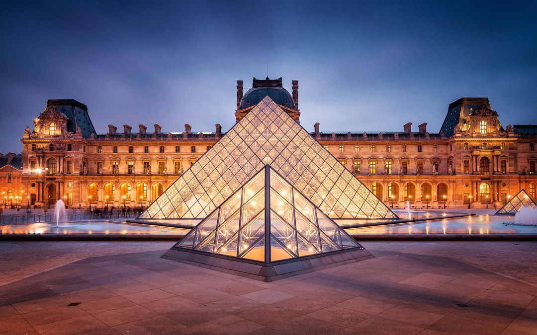 666 panes of glass, and the actual controversy of the Louvre Pyramid